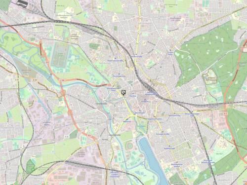 Vorschau auf eine Karte, die Markierung zeigt den Standort der Jugendberufsagentur Hannover, Brühlstraße 4, 30169 Hannover