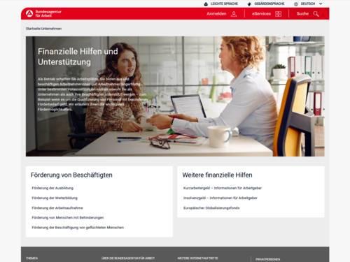 Vorschau auf www.arbeitsagentur.de