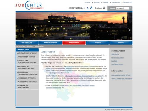 Vorschau auf jobcenter-region-hannover.de