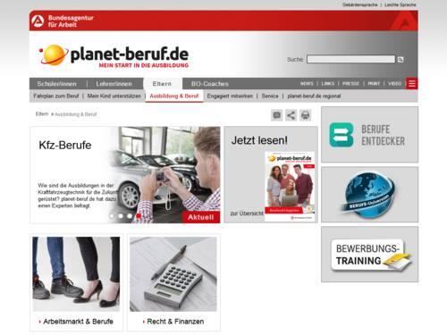 Vorschau auf www.planet-beruf.de/eltern/ausbildung-beruf