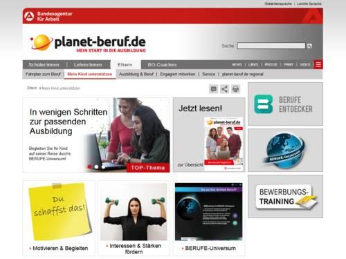Vorschau auf www.planet-beruf.de/eltern/mein-kind-unterstuetzen